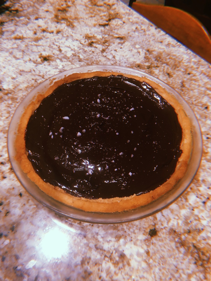 peanut butter & chocolate tart